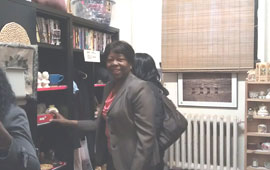 Elder Dolores Joseph at gift shop